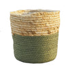 Rachel Round Green Basket - medium