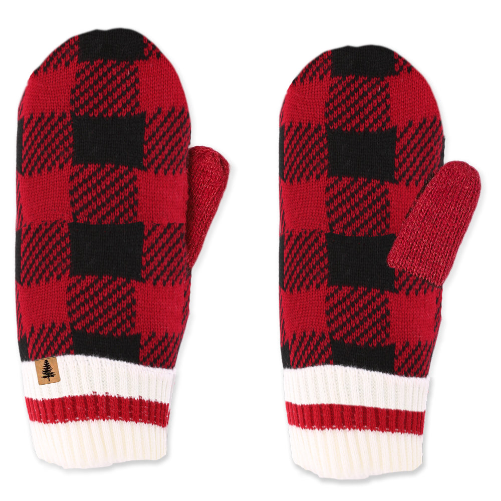 Buffalo Check Kids Mittens