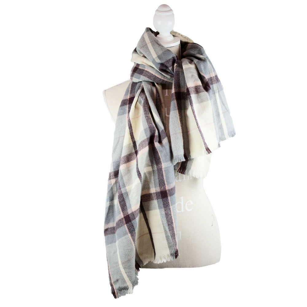 Scarf Oversized Checker