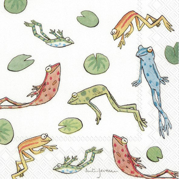 Jumping Frogs - Cocktail Napkin