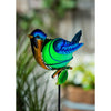 Glow in the Dark Blue Bird Garden Stake 28""