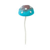 Glow in the Dark Blue Mushroom Plant Pick 12.5""