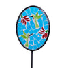Translucent Bird Mosaic Glass Garden Stake 37.25""