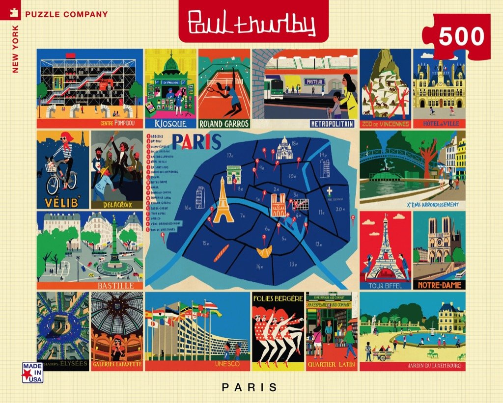 Paris Collage puzzle