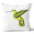 Ecotopia Hummingbird Blue/Green Cushion