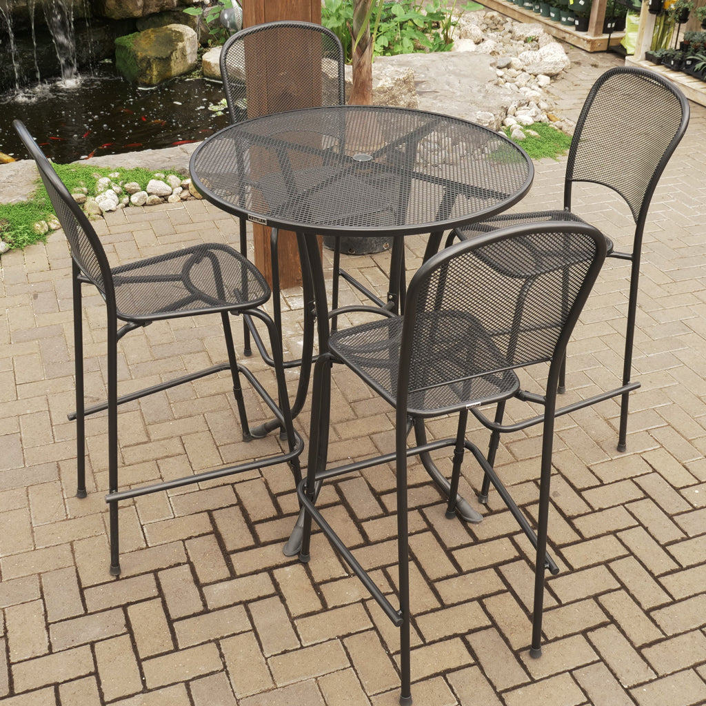 Carlo 5 Piece Gray Bar Set - Round Table