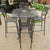 Carlo 5 Piece Gray Bar Set - Square Table