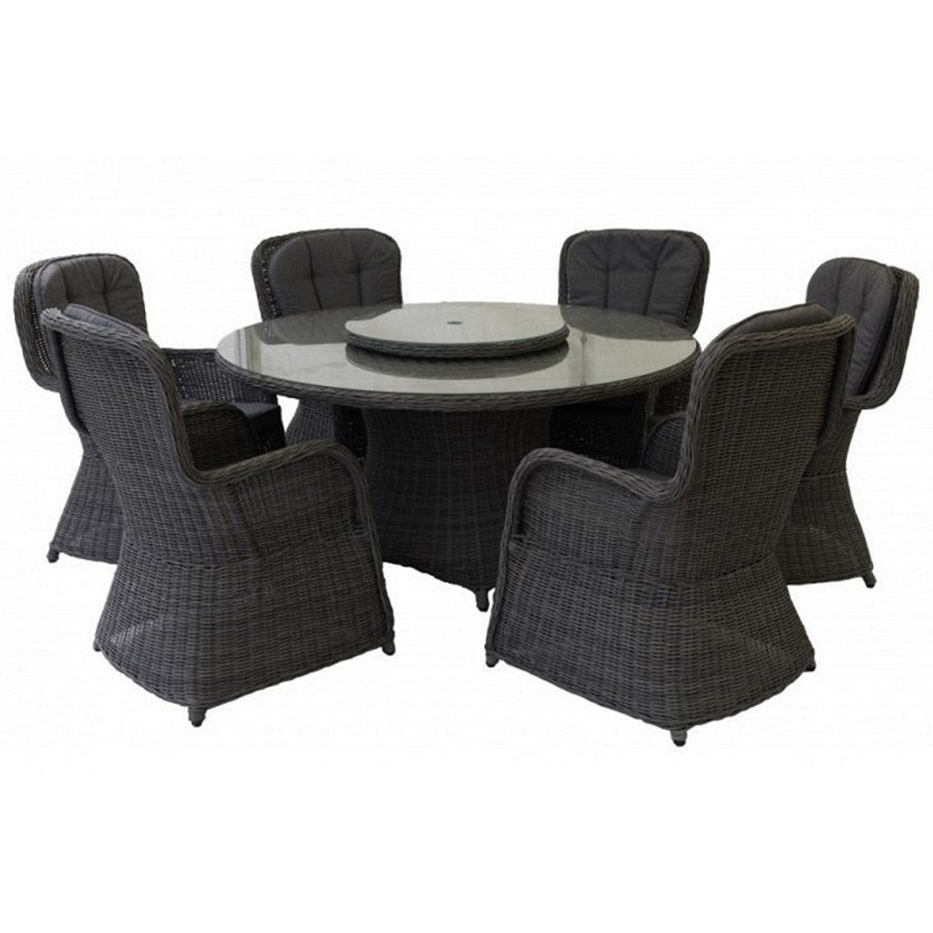 Hastings Closed Weave 7 Piece Dining Set - Anthracite