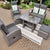 Swansea 6 piece Dining Set - Anthracite & Dark Grey