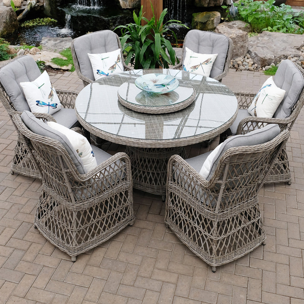 Hastings Open Weave 7 Piece Dining Set - Driftwood