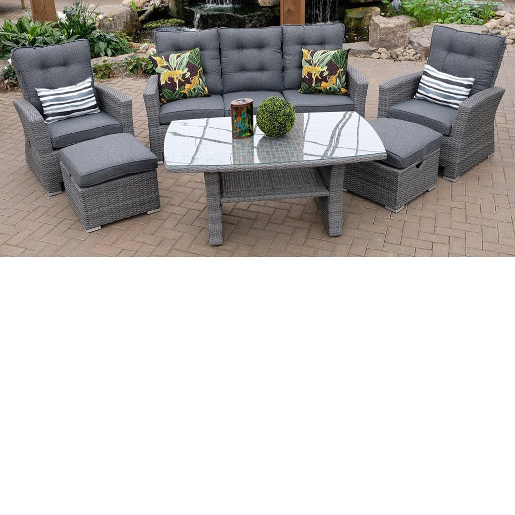 Hacienda 6 Piece Sofa Deepseating Set - Anthracite
