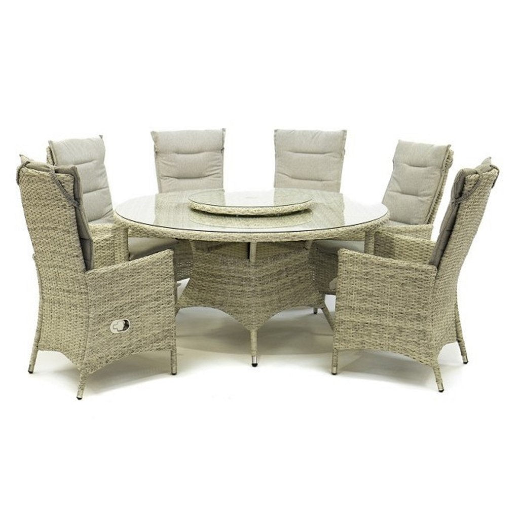 Big Georgia Lux Dining 7 piece Set - Driftwood & Light Brown