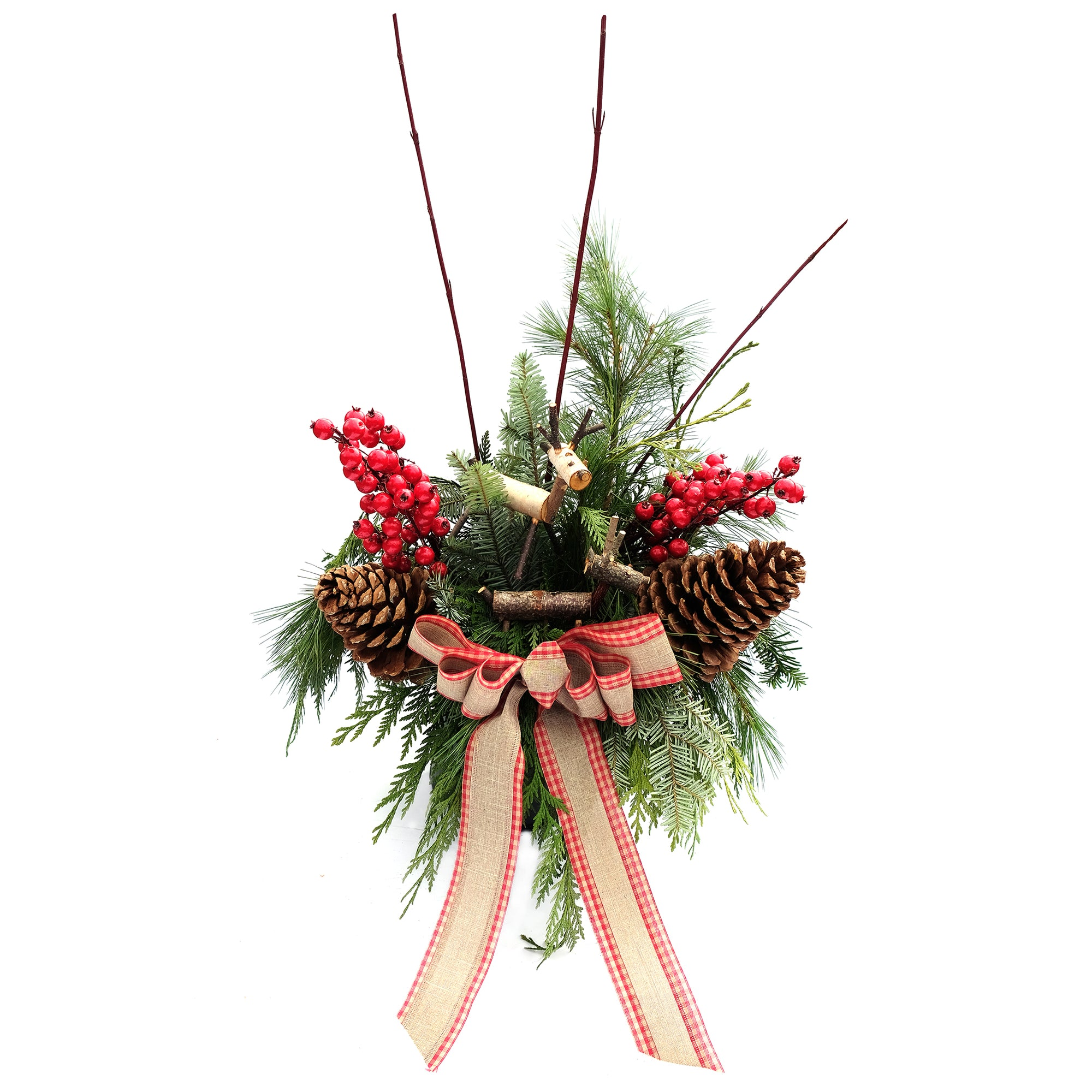 Birch Reindeer Urn Arrangement (2GAL)
