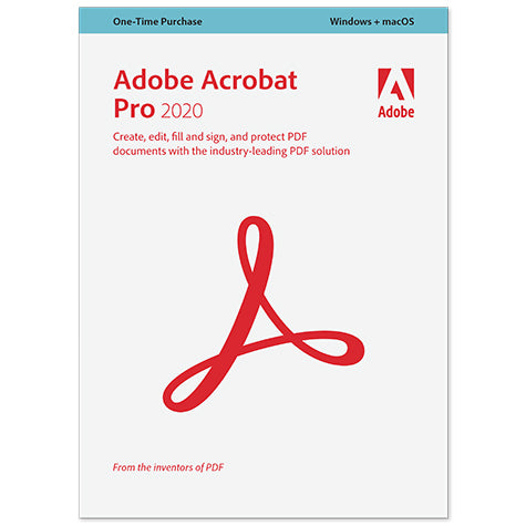 Acrobat Pro 2020 with 2-Year Upgrade Plan School/Nonprofit Edition Mac/Windows (download version)