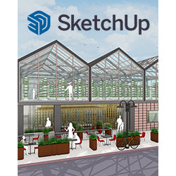 SketchUp Studio for Nonprofits 1-Year License Download with SU Podium V2.6 w/Podium Browser and Dibac Architectural Plug-ins