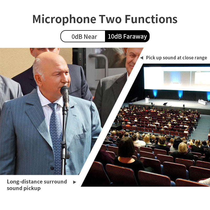 【Microphone Advantages】 Two microphones with different functions to obtain high-quality sound and reduce noise in close-range and long-distance radio.