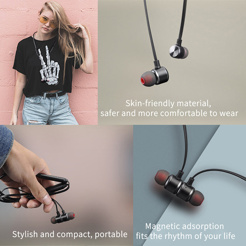 Bluetooth headset fashion match, metallic texture