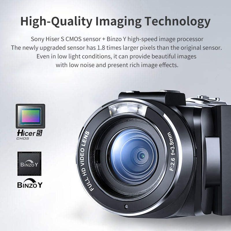 A digital camera with an 8 megapixel CMOS sensor, can provide 1920 * 1080 30fps FHD digital video resolutions and max. 24M (5600 * 4200) photo resolution.