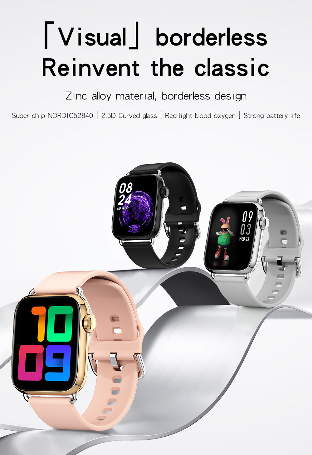 ORDRO QY03 New Wateproof Smartwatch for Android and iPhone