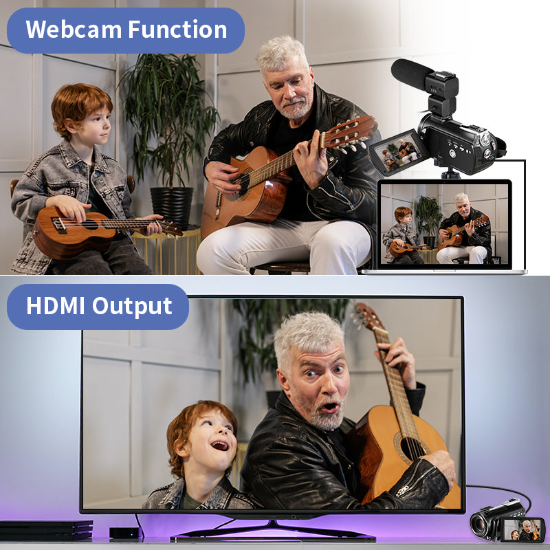 ordro ac5【As a Webcam Camera】Versatility of the camcorder as a webcam and camera is fantastic