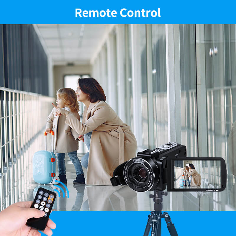 The AC7 4K Camcorder has two control functions, the first is WiFi control and the second is remote control