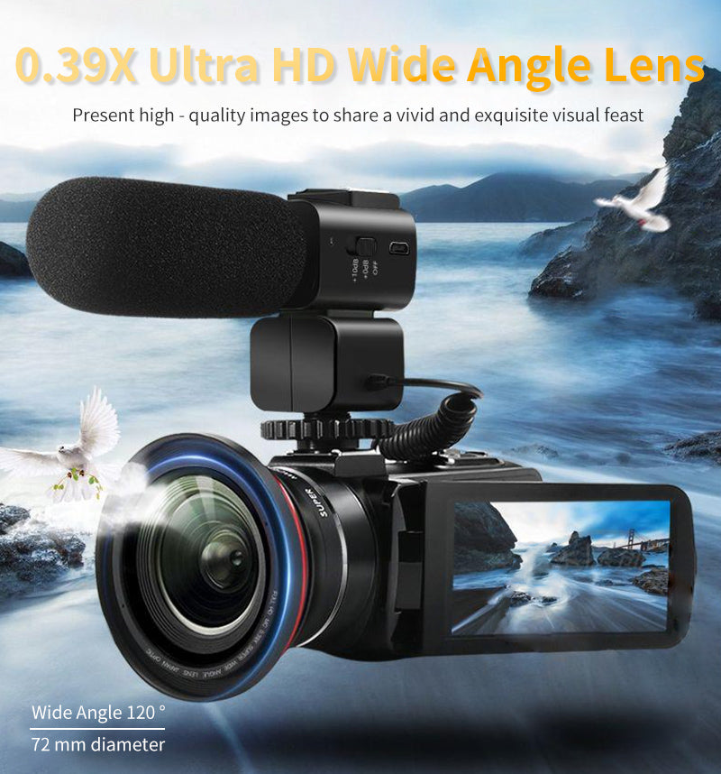 External super HD wide-angle red circle lens, 0.39X super-wide-angle to shoot the scene. The broader picture of increasing the space feeling of depth, more amount of light, depth of field screen longer, the scene around the theme of the subject can be clearly reproduced on the screen