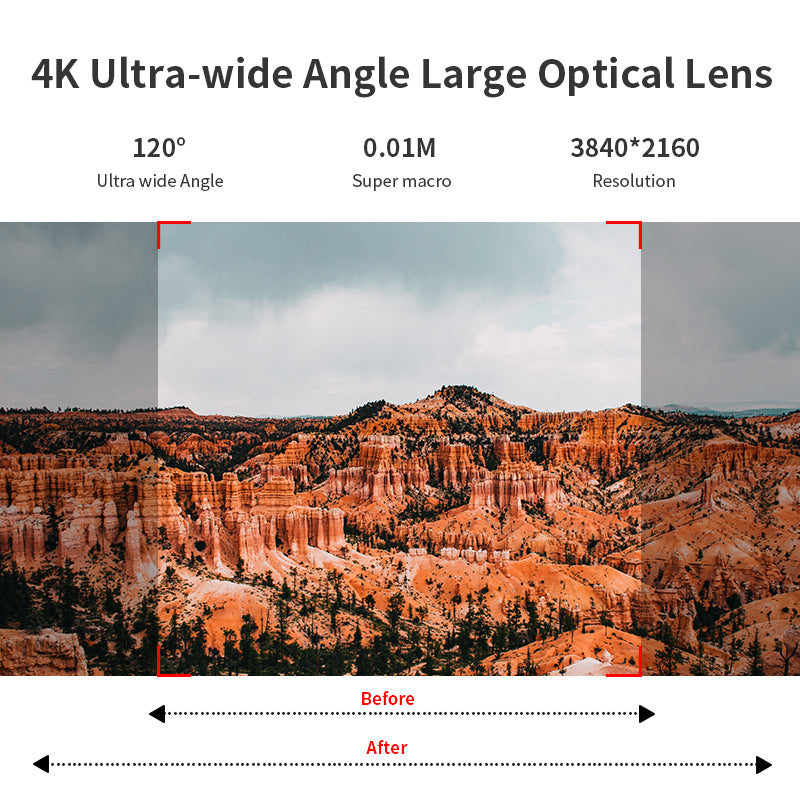 With ultra-wide-angle lens, increasing the viewing angle range, showing more comprehensive quality and environment.