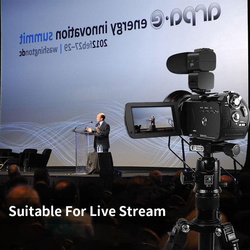 【As a Webcam Camera】Versatility of the camcorder as a webcam and camera is fantastic ,support live streaming.HDMI output. As a high-quality webcam, it can be broadcast live at any time in the meeting