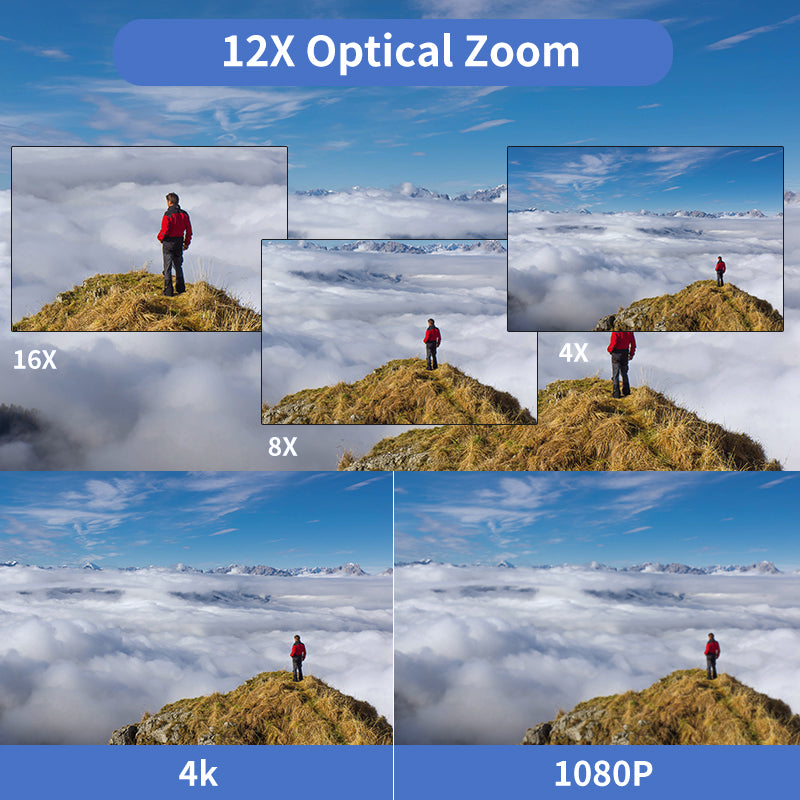 ORDRO ac5 support 12x optical zoom
