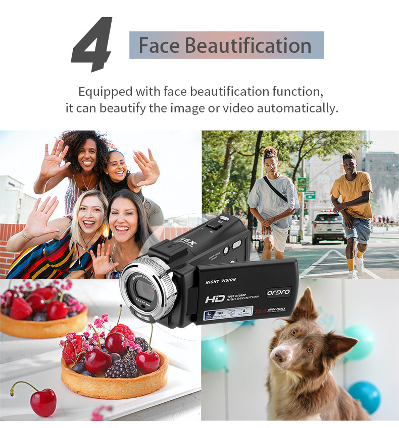 Equipped with a face beautification function, it can beautify the image or video automatically. Automatically capture faces.