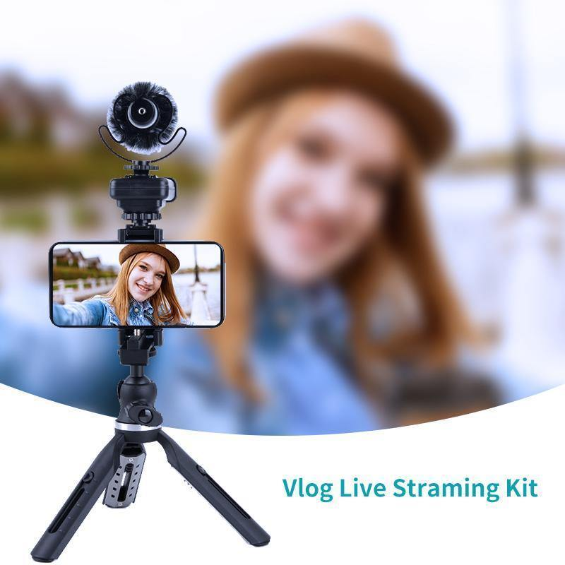 ORDRO Video Mini Vlogging Live Streaming Kit with LED Light & Microphone - Ordro