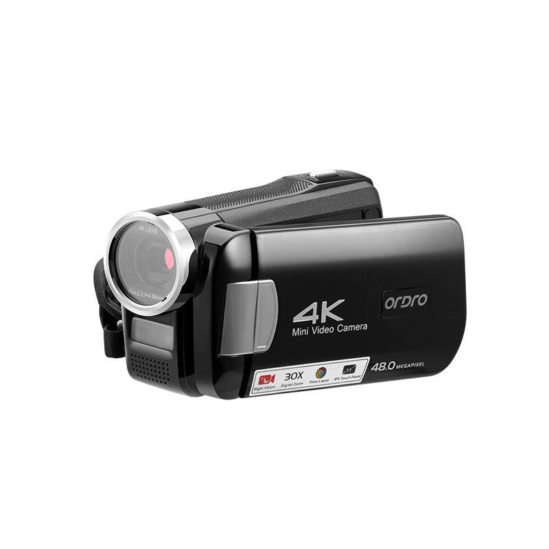 ORDRO 4K Camcorder Pocket Camera AC2 with 30X Digital Zoom & IR Night Vision