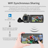 ORDRO AX60  Video Camera  Camcorder Full  4K  HD WiFi Vlog Camera 3.15 Inch IPS Screen