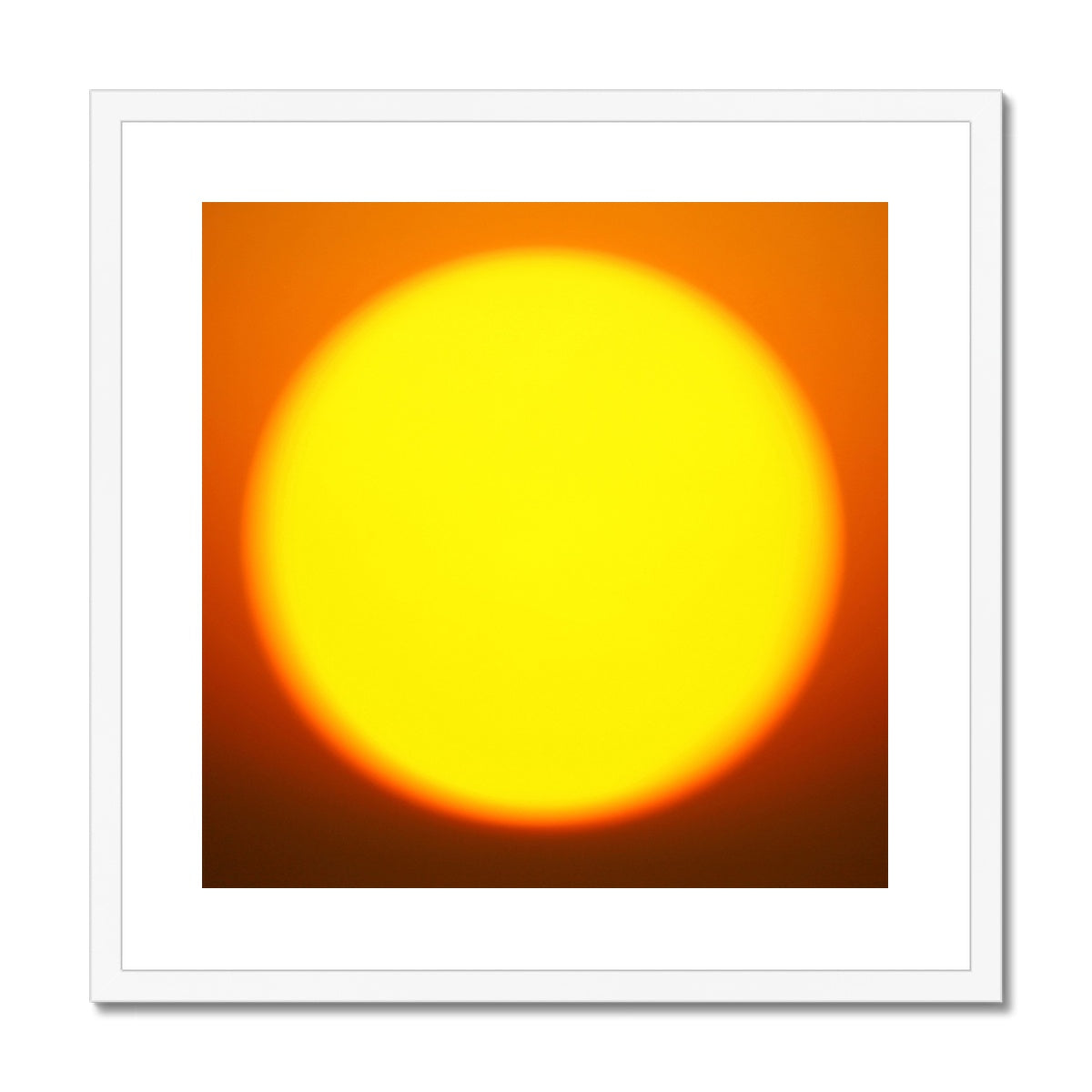 Golden Sun Framed & Mounted Print