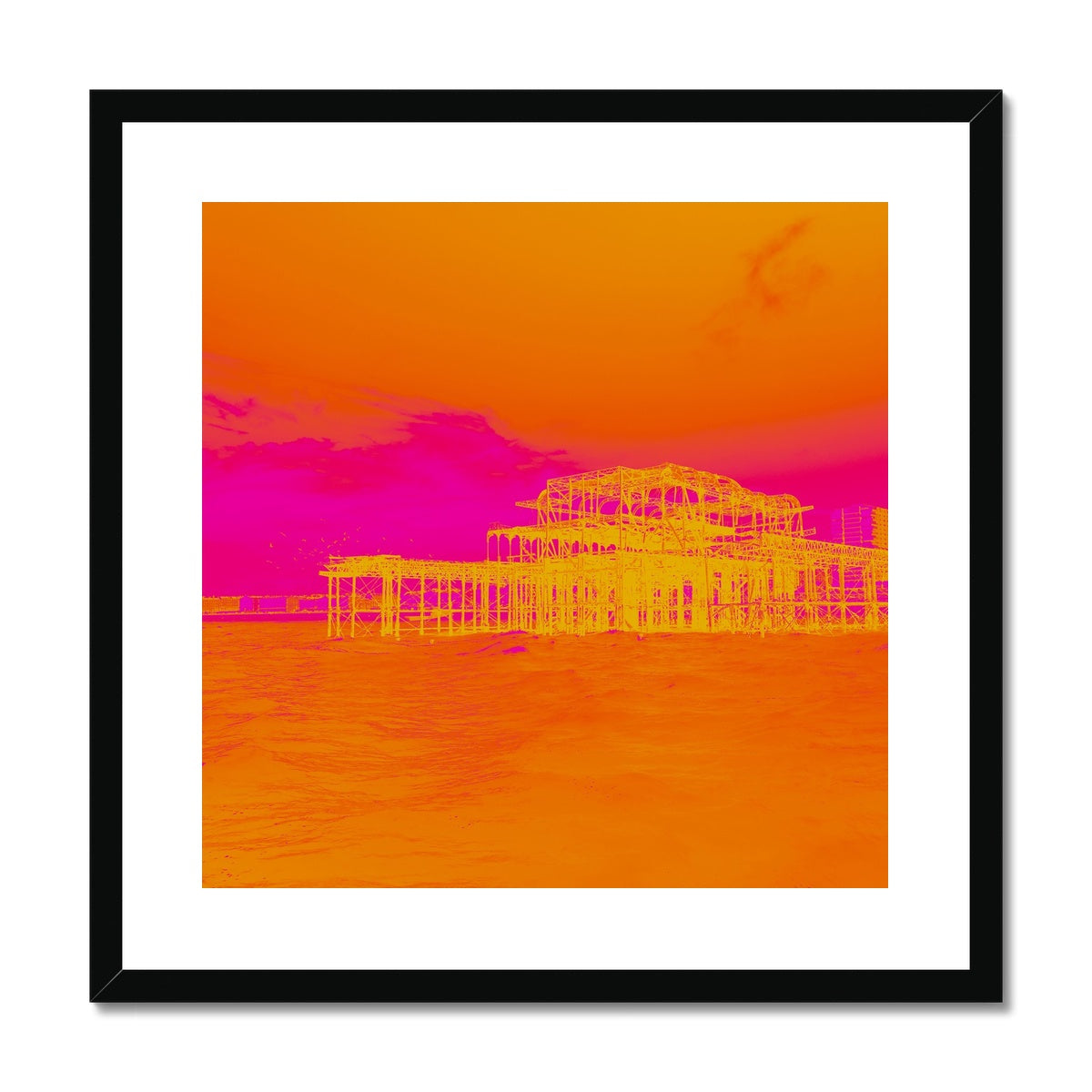 Sunset Ripple Framed & Mounted Print