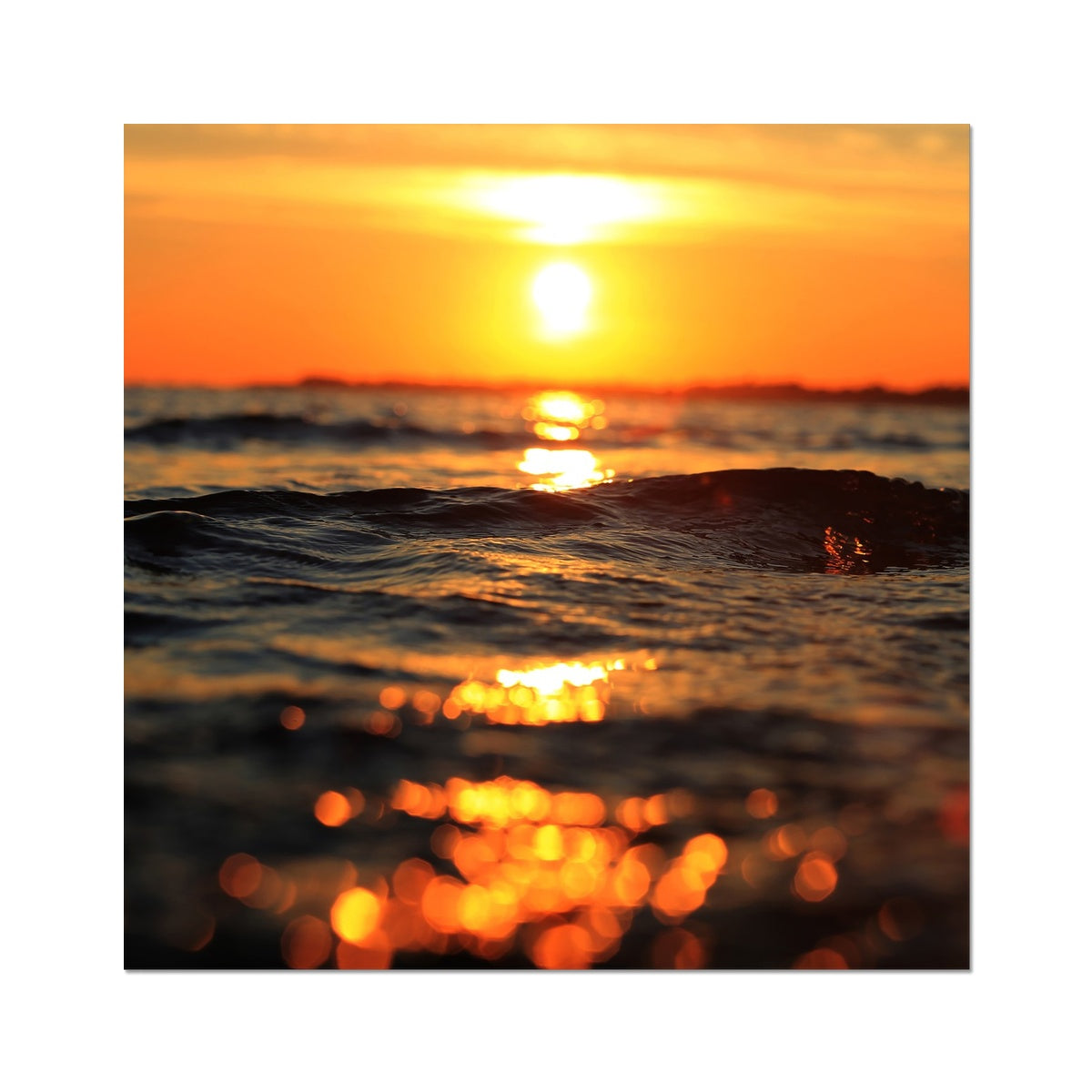Golden Sea Vibes Photo Art Print
