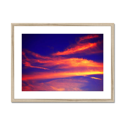 Electric Magical Sky Framed & Mounted Print