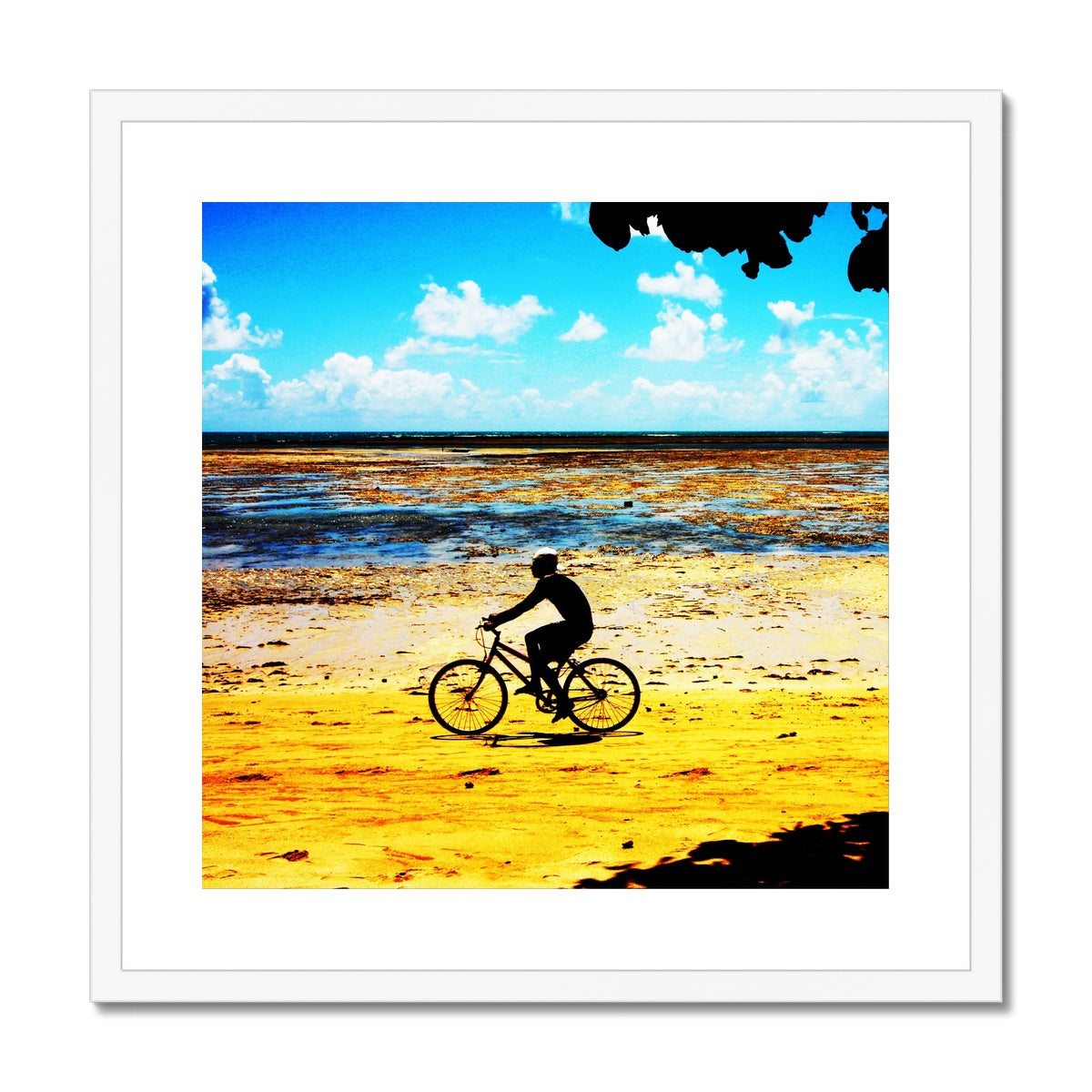 Bahia Bicycle - Square Canvas  Framed & Mounted Print