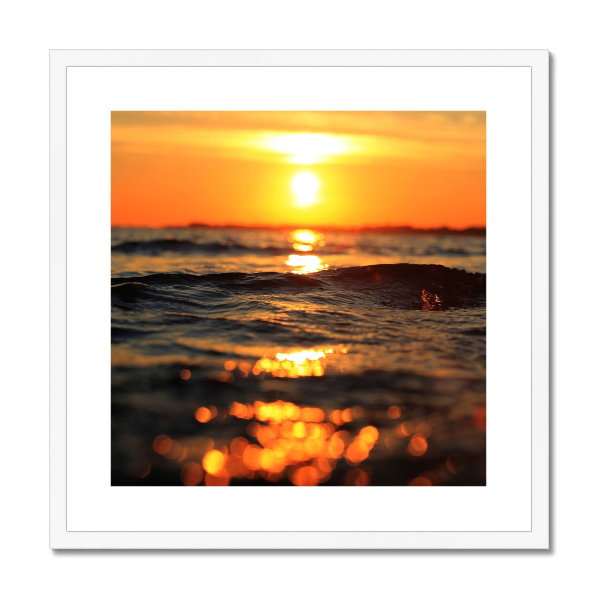 Golden Sea Vibes Framed & Mounted Print