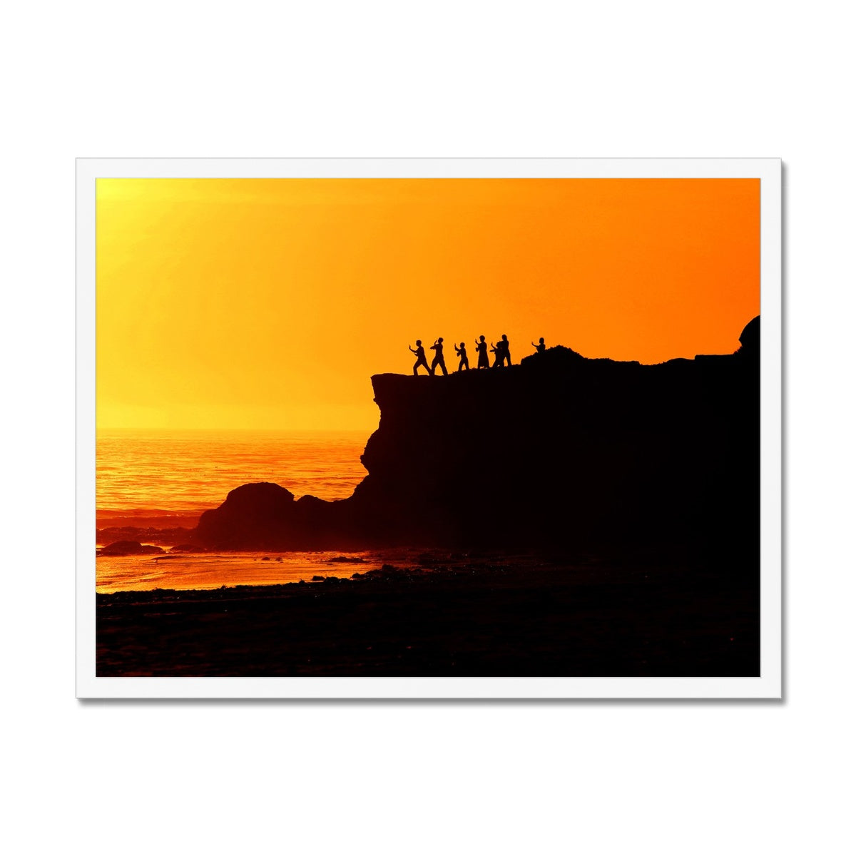 Tai Chi Sunset - California Framed Print