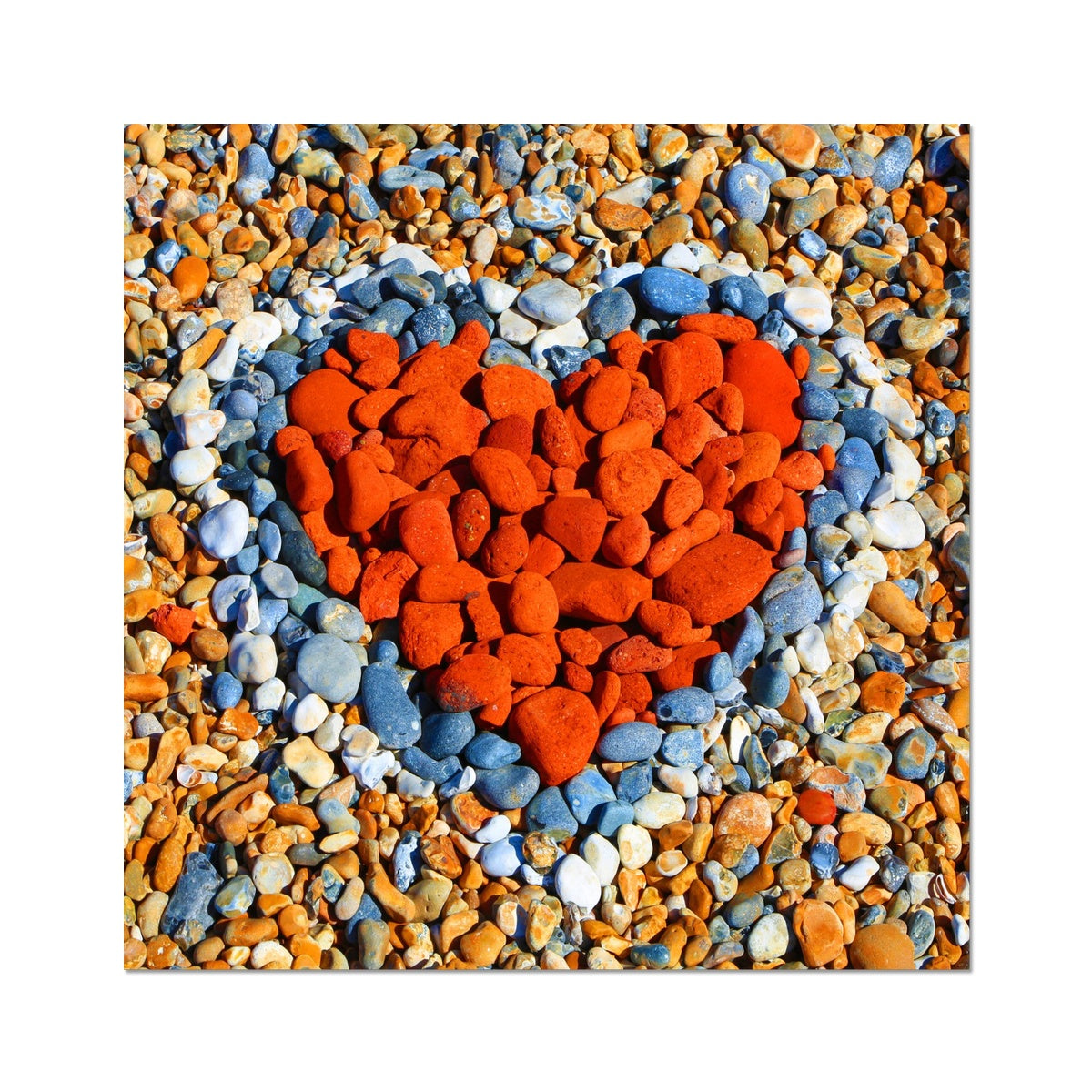 Beach Love Heart  - Photo Art Print