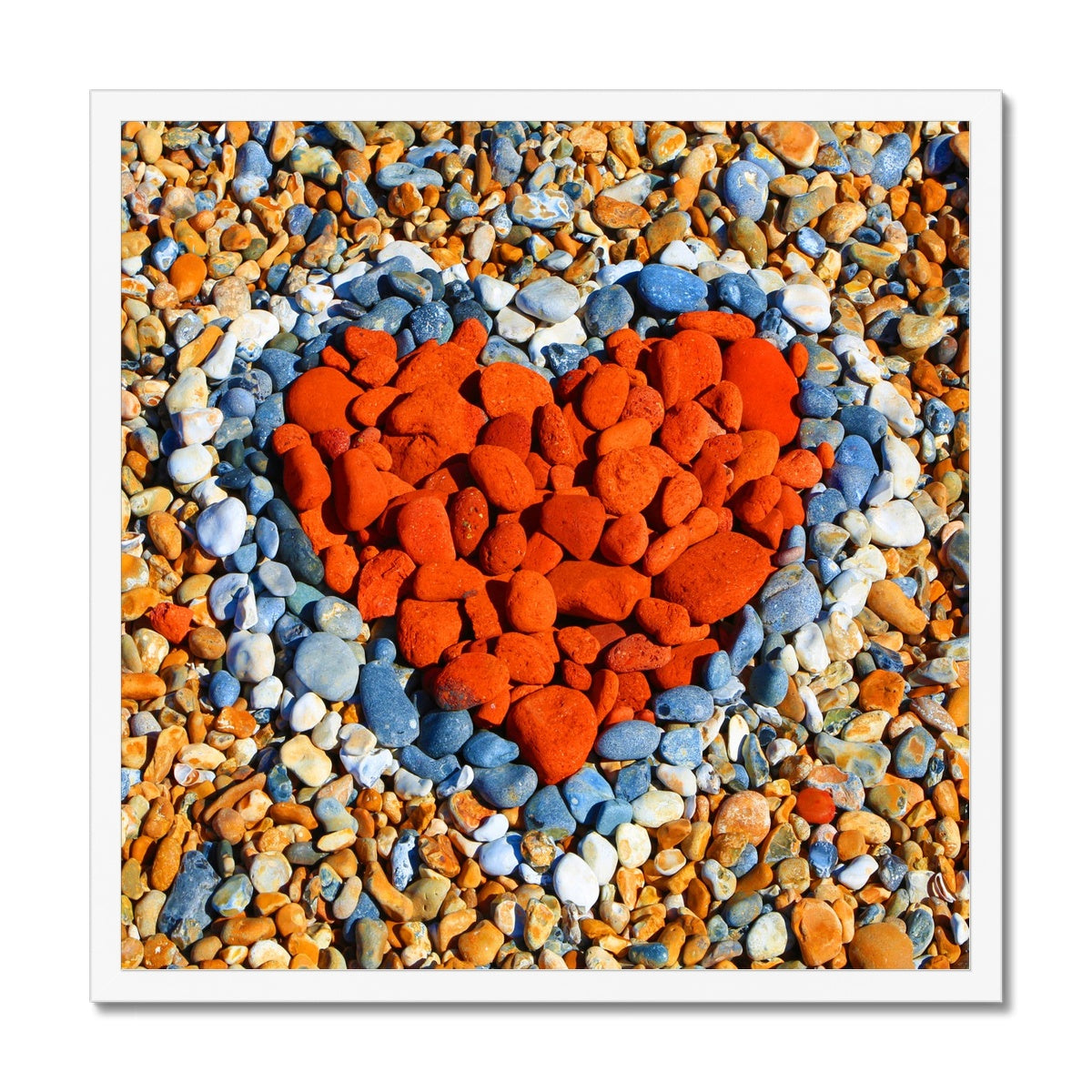 Love Heart - Brighton Beach - Framed Print
