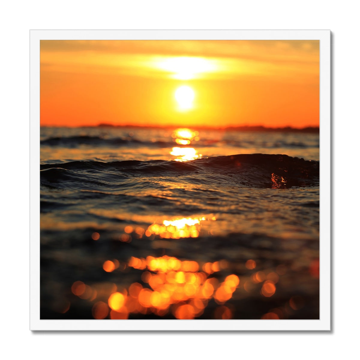 Golden Sea Vibes - Framed Print