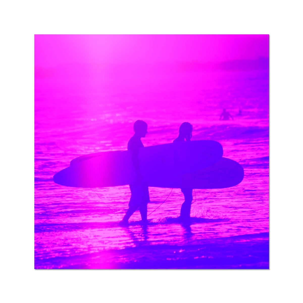 Surf Lovers - Sq Photo Art Print