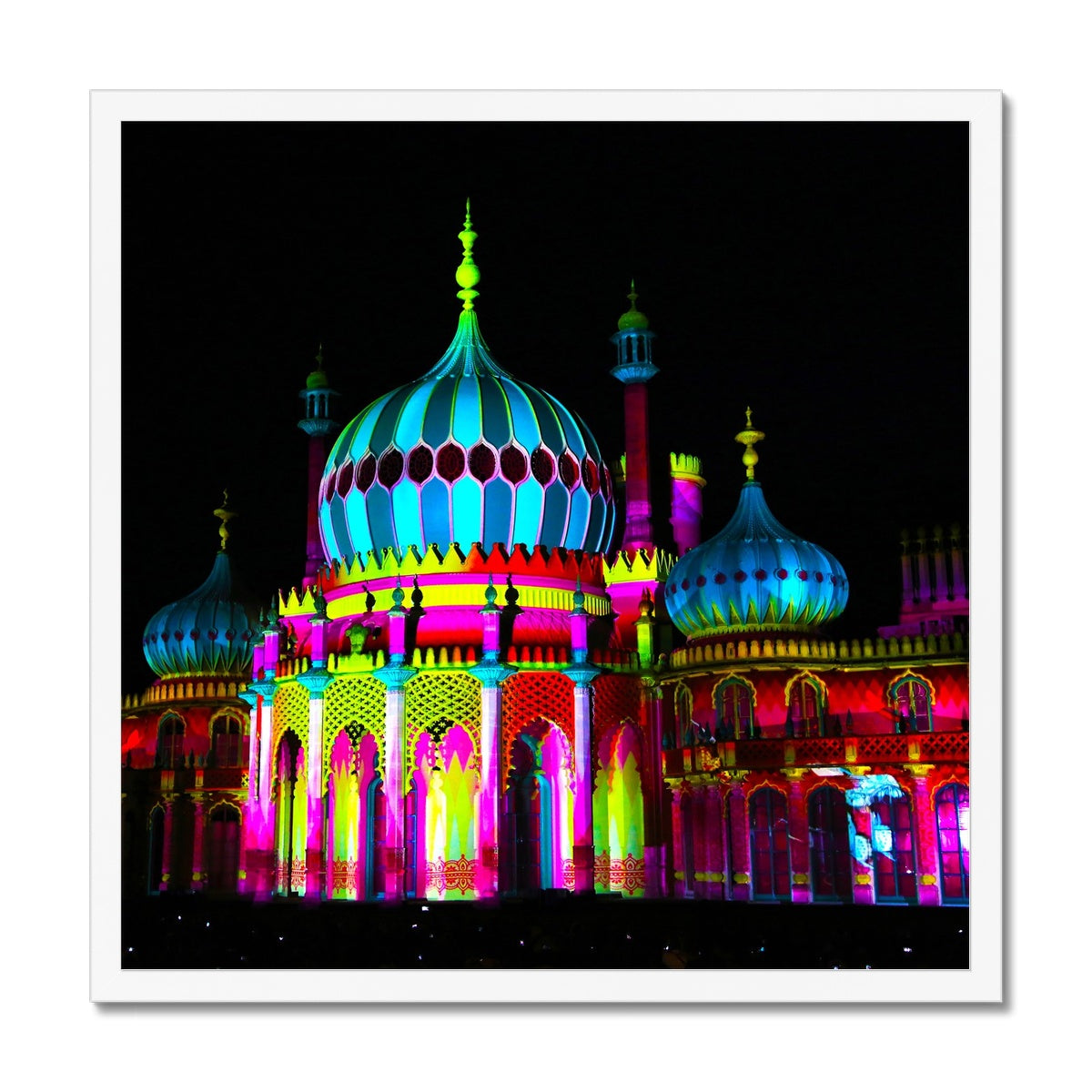 Pavilion Lights Framed Print