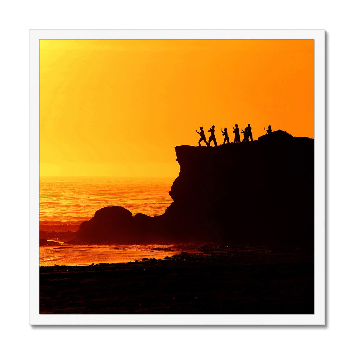 Tai Chi Sunset - Framed Print