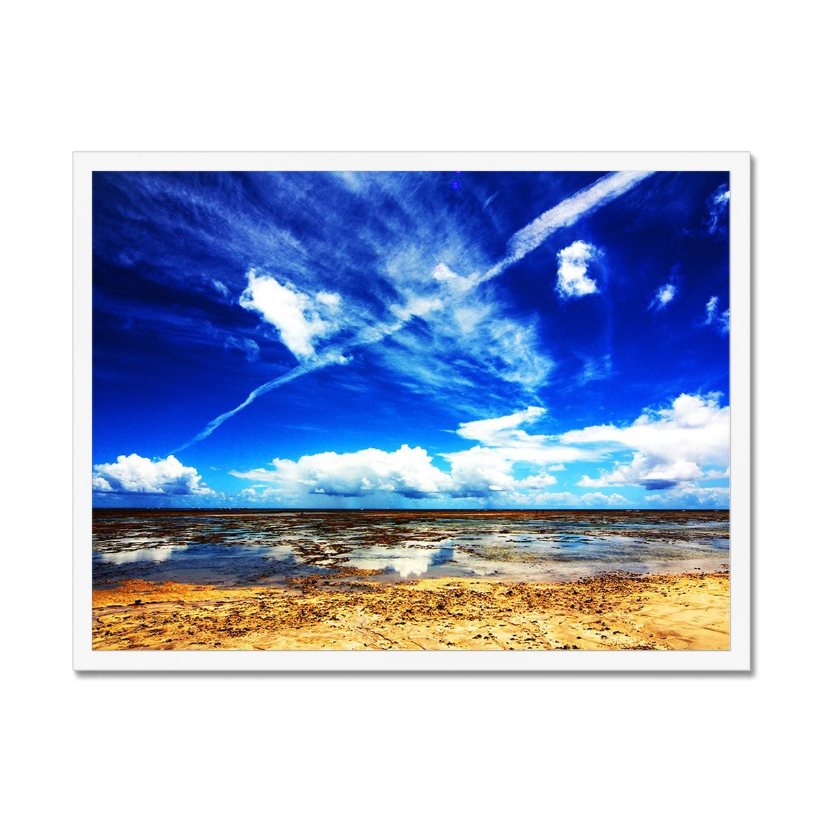 Bahia Electric Aqua Blue II - Brasil - Framed Print