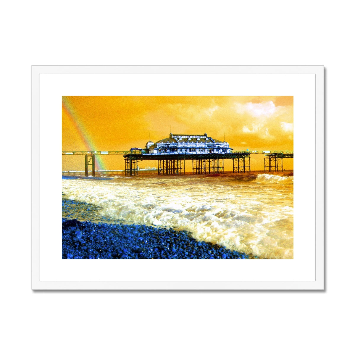 West Pier Rainbow - Brighton Framed & Mounted Print