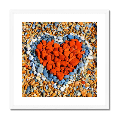 Love Heart - SQ Checking Sizes Framed & Mounted Print | Feel Good Images