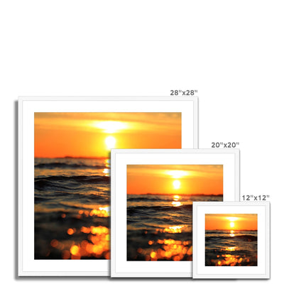 Golden Sea Vibes Framed & Mounted Print | Feel Good Images